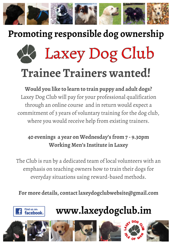 Dog Trainer advert - Laxey Dog Club.png